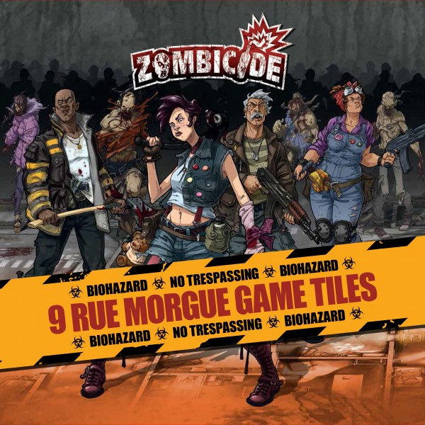 Zombicide: 9 Rue Morgue Game Tiles