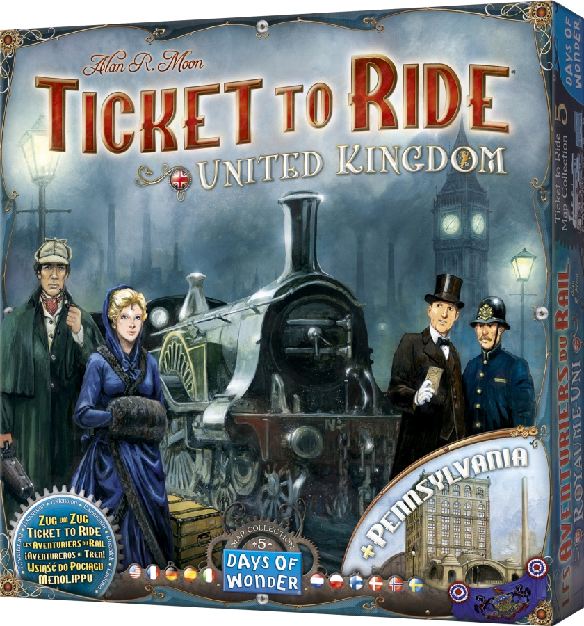Ticket to Ride: United Kingdom + Pennsylvania (polska instrukcja)