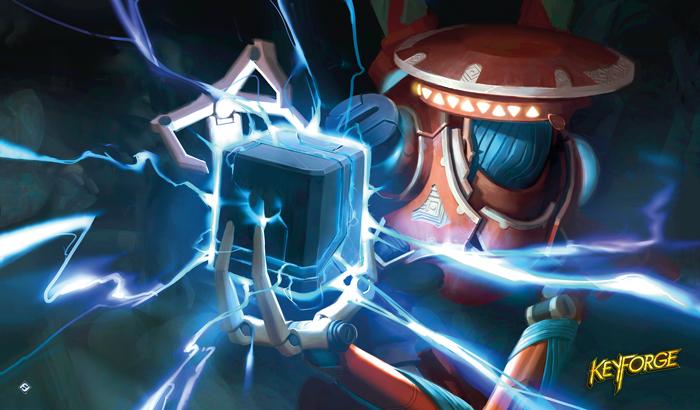 KeyForge: Positron Bolt Playmat
