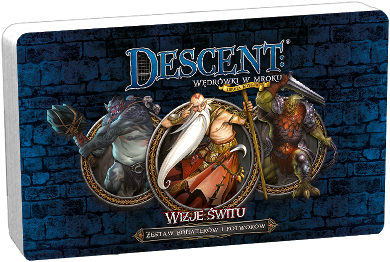 Descent: Wędrówki w Mroku - Wizje Świtu - Zestaw Bohaterów i Potworów