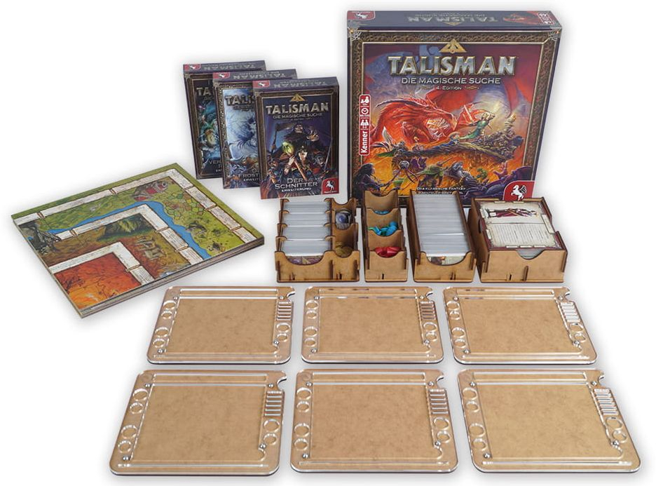 E-Raptor: Insert do gry Talisman (4th Edition) i dodatków + 6 organizerów