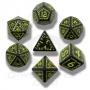 Komplet runiczny - Czarno-żółty