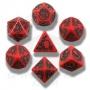 Komplet Kości smoczy - Czerwono-czarny