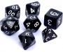Komplet kości REBEL RPG - Perłowe - Czarne