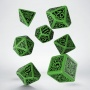 """Komplet Kości """"Zew Cthulhu"""": The Outer Gods - Cthulhu - Zielono-czarny"""