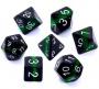 Komplet kości REBEL RPG - Minerały - Szmaragd