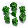 Komplet Kości celtycki - Zielono-czarny 3D