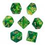 Komplet kości REBEL RPG - Dwukolorowe - Miętowo-zielone