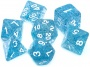 Komplet kości REBEL RPG - Brokatowe - Niebieskie