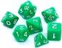 Komplet kości REBEL RPG - Matowe - Zielone
