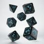 Komplet kości - Starfinder - Niebiesko-czarny