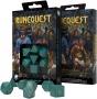 Komplet kości RuneQuest RPG: Turkusowo-złoty