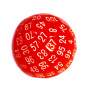 Kość REBEL matowa 100 Ścian - Cyfry - Czerwona