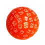 Kość REBEL matowa 100 Ścian kulista - Cyfry - Pomarańczowa